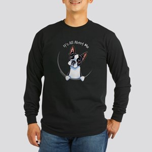 Boston Terrier IAAM Full Long Sleeve Dark T-Shirt