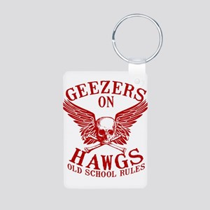 Geezers on Hawgs Aluminum Photo Keychain