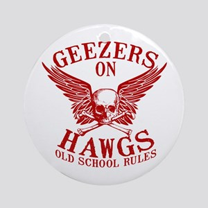 Geezers on Hawgs Ornament (Round)