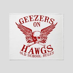 Geezers on Hawgs Throw Blanket