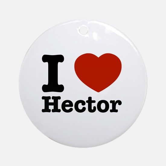 I love Hector Ornament (Round)