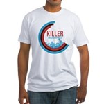 Killer Infographics Rounded Logo Fitted T-Shirt
