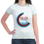 Killer Infographics Rounded Logo Jr. Ringer T-Shir
