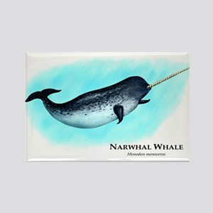 Narwhal Whale Rectangle Magnet