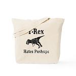 Vintage T-Rex hates Pushups Tote Bag