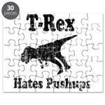 Vintage T-Rex hates Pushups Puzzle