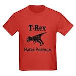 Vintage T-Rex hates Pushups Kids Dark T-Shirt