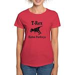 Vintage T-Rex hates Pushups Women's Dark T-Shirt