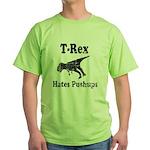 Vintage T-Rex hates Pushups Green T-Shirt