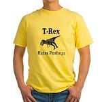 Vintage T-Rex hates Pushups Yellow T-Shirt