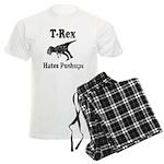 Vintage T-Rex hates Pushups Men's Light Pajamas