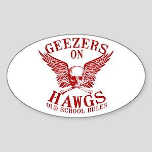 Geezers on Hawgs Sticker (Oval)