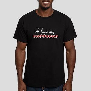 I love my Bassador Men's Fitted T-Shirt (dark)