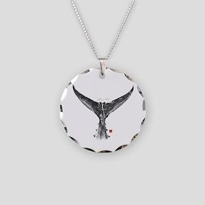 Blue Fin Tuna Gyotaku Necklace Circle Charm