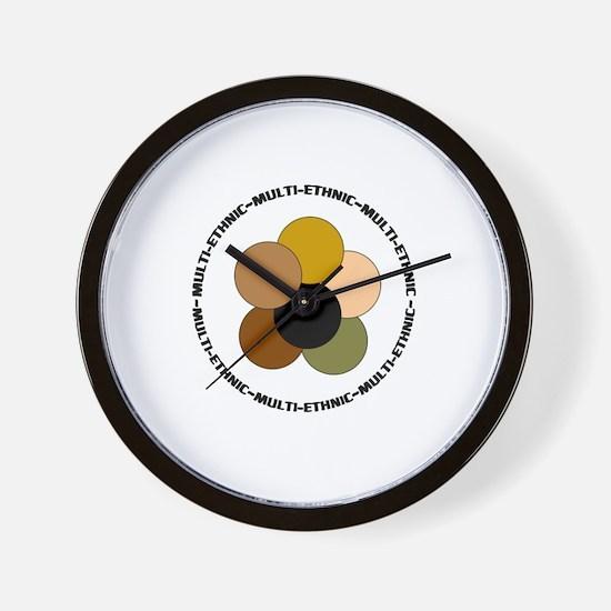 Multiethnic/ Multracial Pride Wall Clock