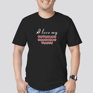 I love my Bavarian Mountain Hound Men's Fitted T-S