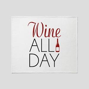 Wine All Day Stadium Blanket