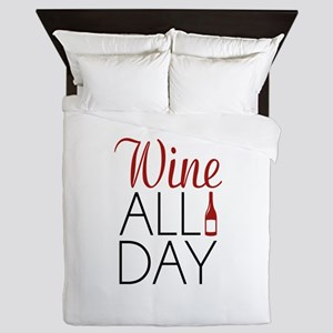 Wine All Day Queen Duvet