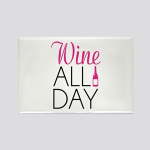 Wine All Day Rectangle Magnet