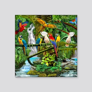 Parrots in Paradise Sticker