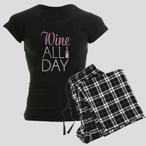 Wine All Day Women's Dark Pajamas