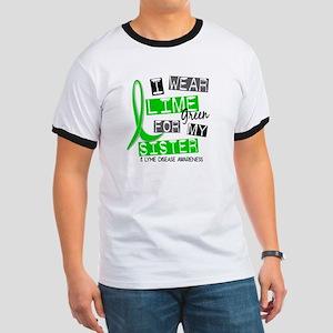 I Wear Lime 37 Lyme Disease Ringer T