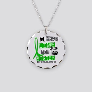 I Wear Lime 37 Lyme Disease Necklace Circle Charm