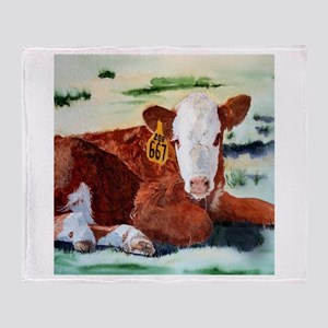 Hereford Calf Throw Blanket