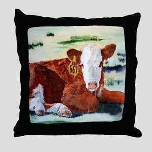 Hereford Calf Throw Pillow
