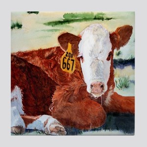 Hereford Calf Tile Coaster