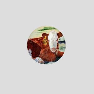 Hereford Calf Mini Button
