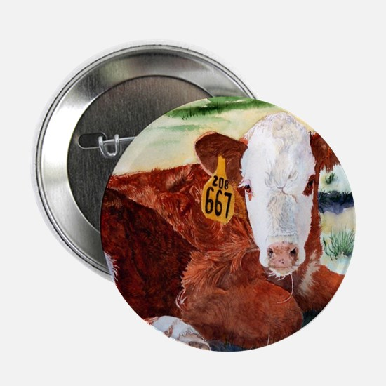 """Hereford Calf 2.25"""" Button"""
