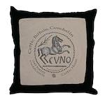 Celtic Horse Coin Throw Pillow