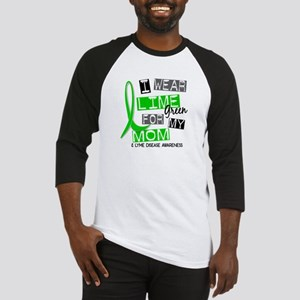 I Wear Lime 37 Lyme Disease Baseball Jersey