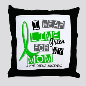 I Wear Lime 37 Lyme Disease Throw Pillow
