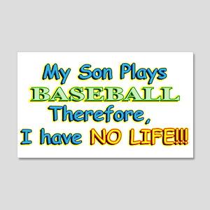 My Son Plays Baseball 22x14 Wall Peel