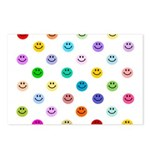 Rainbow Smiley Pattern Postcards (Package of 8)