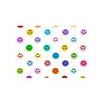 Rainbow Smiley Pattern 38.5 x 24.5 Wall Peel
