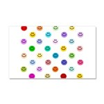 Rainbow Smiley Pattern Car Magnet 20 x 12