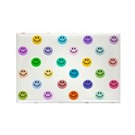 Rainbow Smiley Pattern Rectangle Magnet (10 pack)