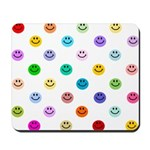 Rainbow Smiley Pattern Mousepad