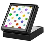 Rainbow Smiley Pattern Keepsake Box