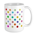 Rainbow Smiley Pattern Large Mug