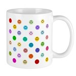 Rainbow Smiley Pattern Mug