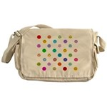Rainbow Smiley Pattern Messenger Bag