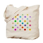 Rainbow Smiley Pattern Tote Bag