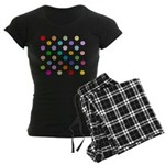 Rainbow Smiley Pattern Women's Dark Pajamas