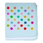 Rainbow Smiley Pattern baby blanket