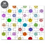 Rainbow Smiley Pattern Puzzle