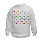 Rainbow Smiley Pattern Kids Sweatshirt